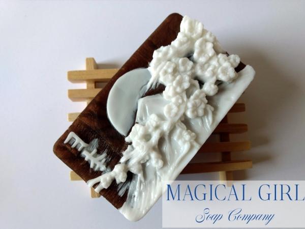 Mount Fuji cameo soap bar