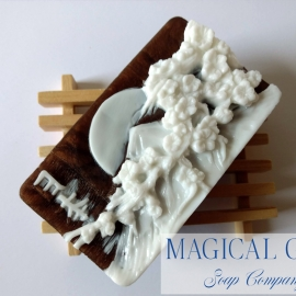 Mount Fuji cameo soap bar